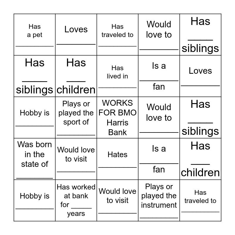 P&C Analytics Team Bingo Card