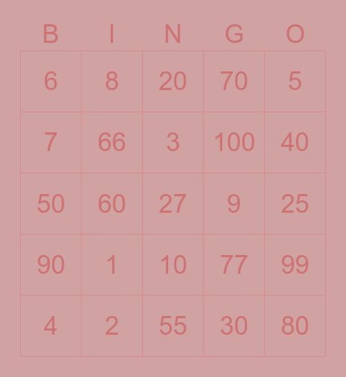HISOMI01 Bingo Card