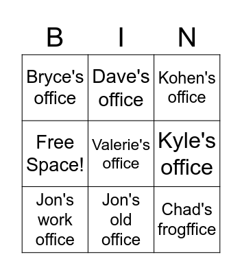 Where in the world is Micah? Bingo Card