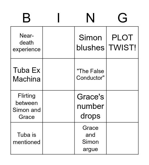 INFINITY TRAIN Bingo Card