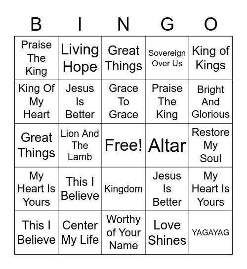 Songlist Bingo Card