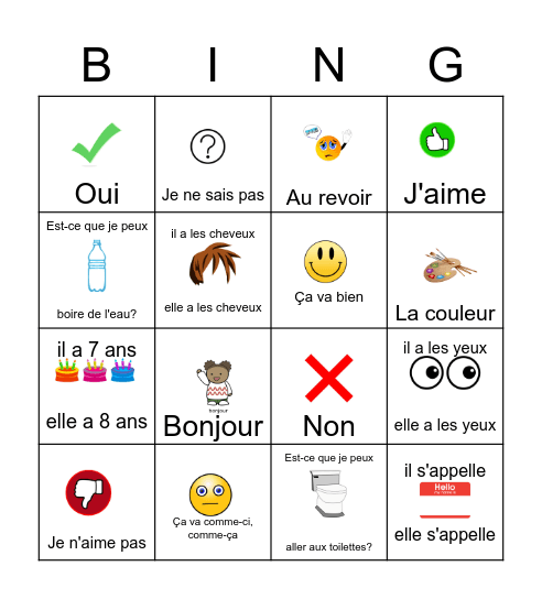 Unit 1 Grade 3 bingo Card