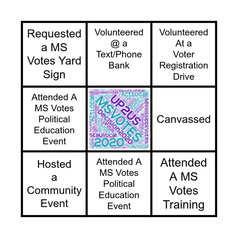 Mississippi Votes Bingo Card