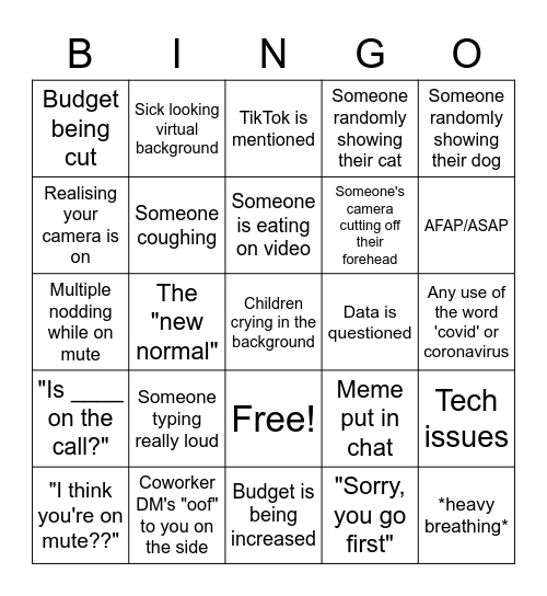 QBR/All Hands Bingo Card