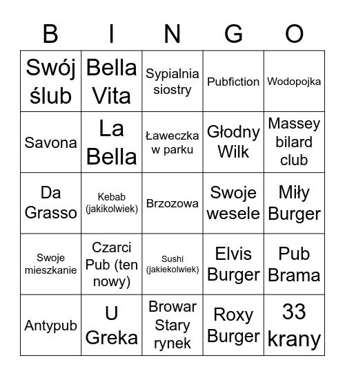 Maciej-o-Bingo! Bingo Card