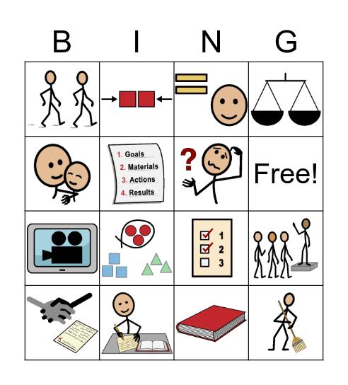 September Vocab Bingo Card