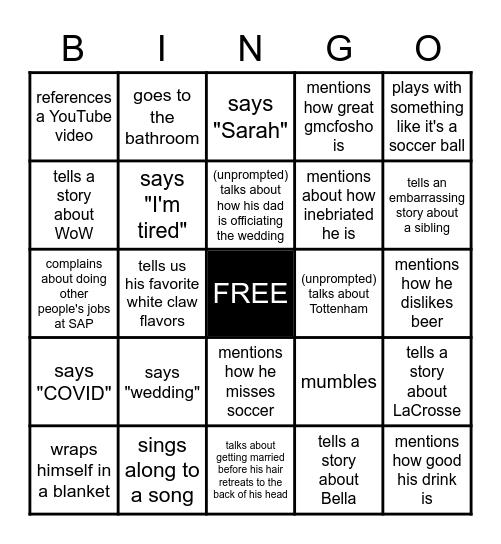 Bachelor Bingo: Michael.... Bingo Card