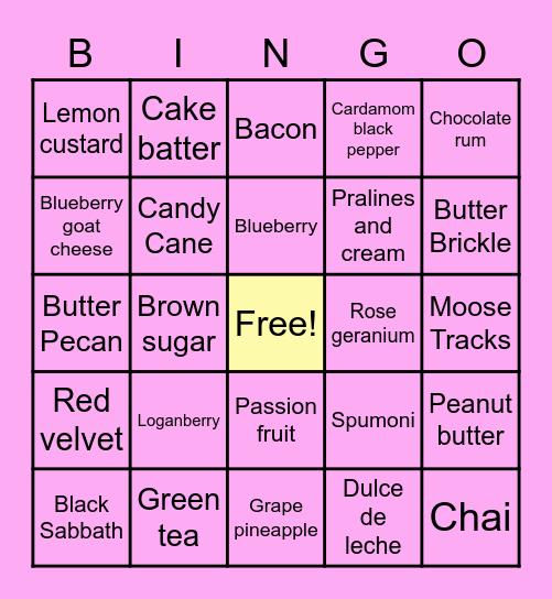 A++ Ice Cream Bingo Card