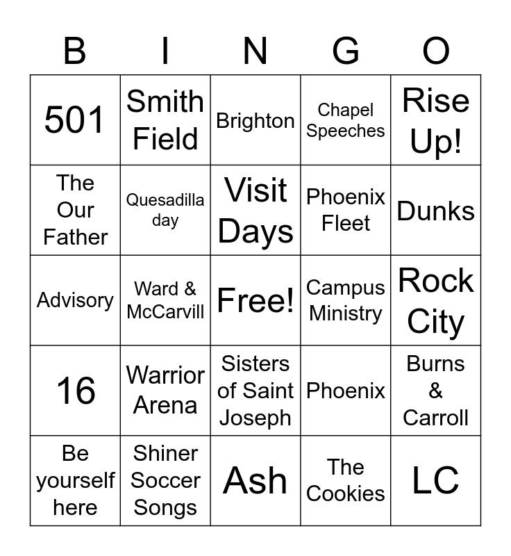 SJP Bingo Card