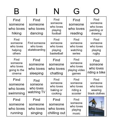 WHAT WE LOVE... Bingo Card