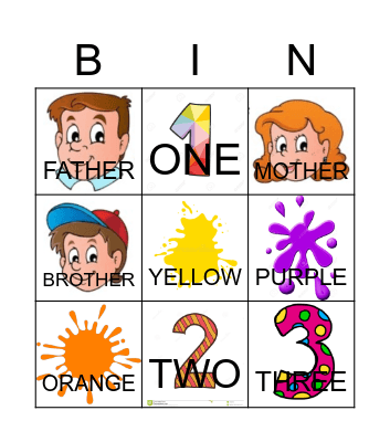 Family :) Bingo Card