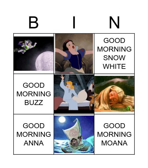 GOOD MORNING / GOOD NIGHT Bingo Card