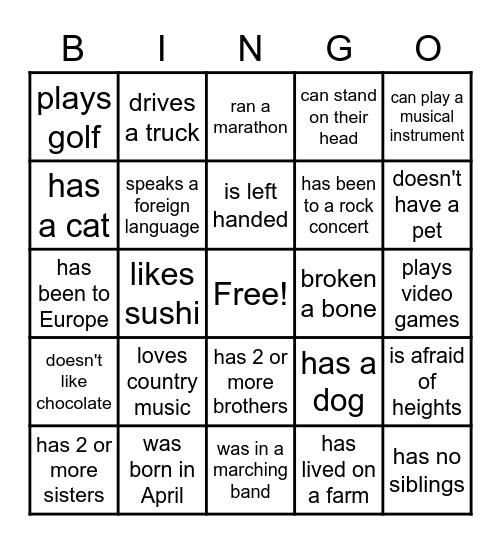 Interior Design - Find Someone who... Bingo Card