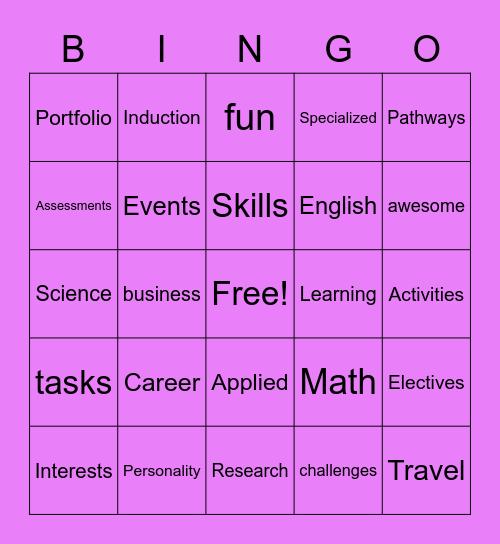 Specialized Skills Bingo Card