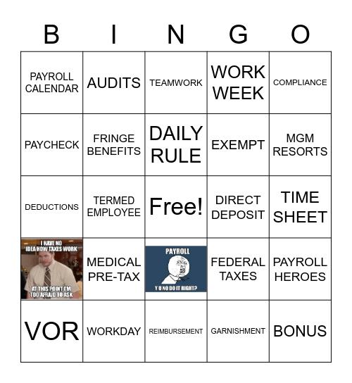 NPW 2020 Bingo Card
