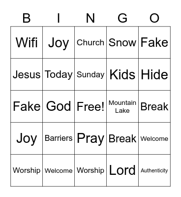 MLC Kids Bingo Card