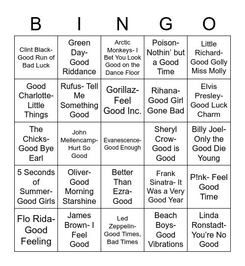 "Total-Quiz.com Presents Radio Bingo: ""Good"" Stuff Bingo Card"