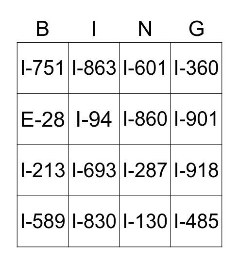 Common Immigration Forms Bingo Card