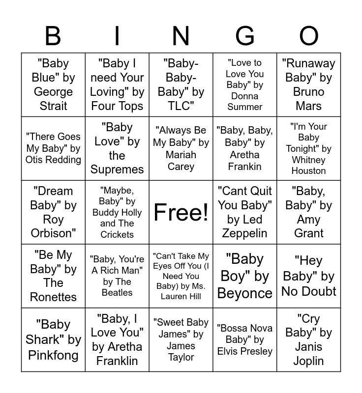 Althof Baby Shower Bingo Card
