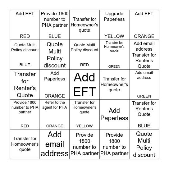 HHV BAZINGA Bingo Card