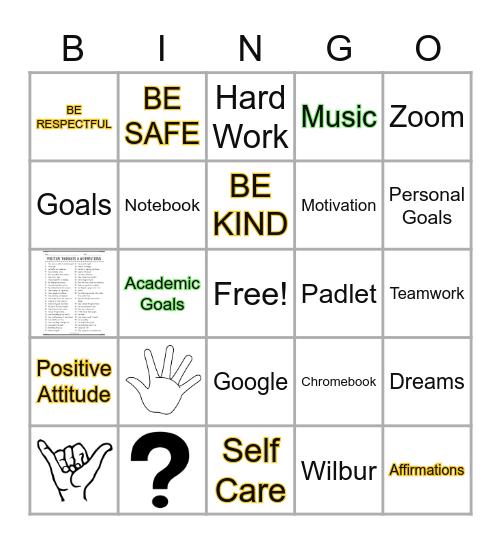Week 2 Bingo Card