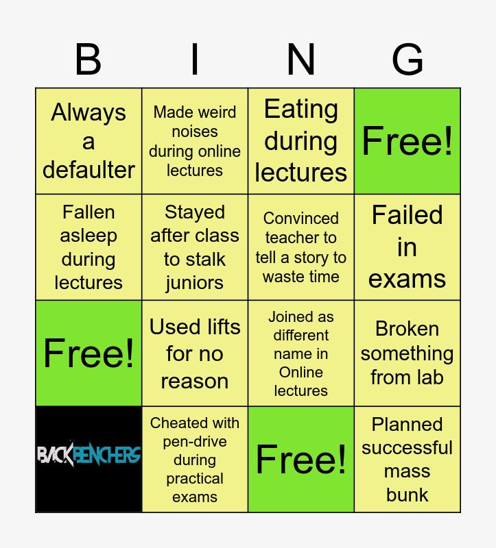 Engineering Day Bingo Card
