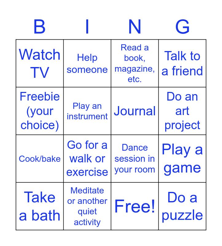Self-Care Bingo! Bingo Card