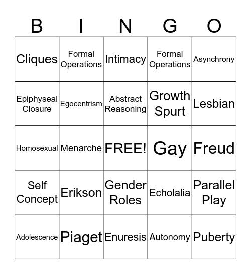 Foundations of Nursing Bingo Card