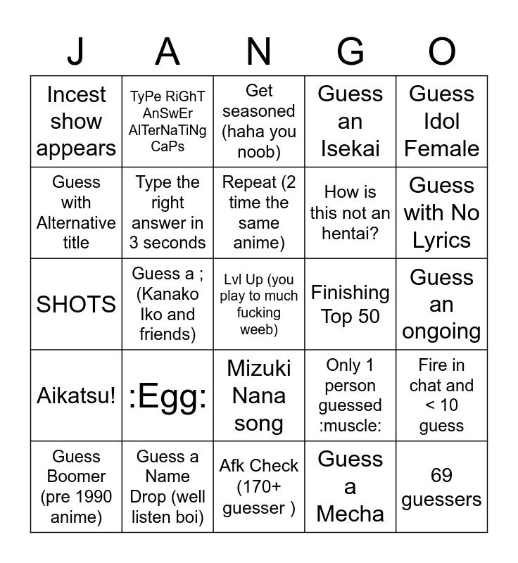 AMQ Ranked Bingo KevinVG V1.0 Bingo Card