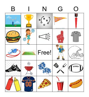 FOOTBALL Bingo Card