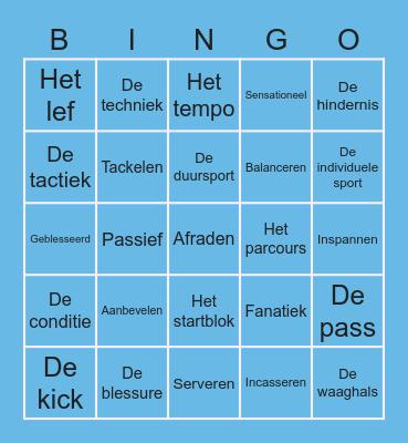 Woordenschat Sport Bingo Card