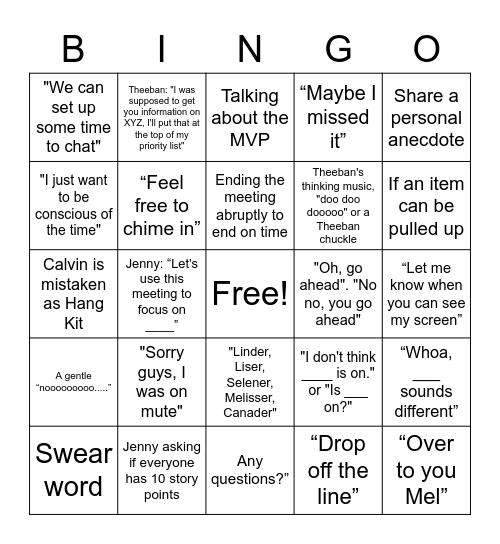 BINGOOOO Bingo Card