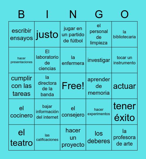 Español 2 Unidad 1 EntreCulturas Bingo Card