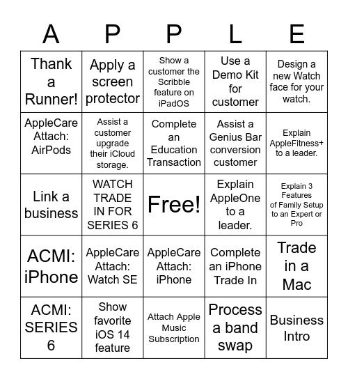 Launch Bingo! Bingo Card