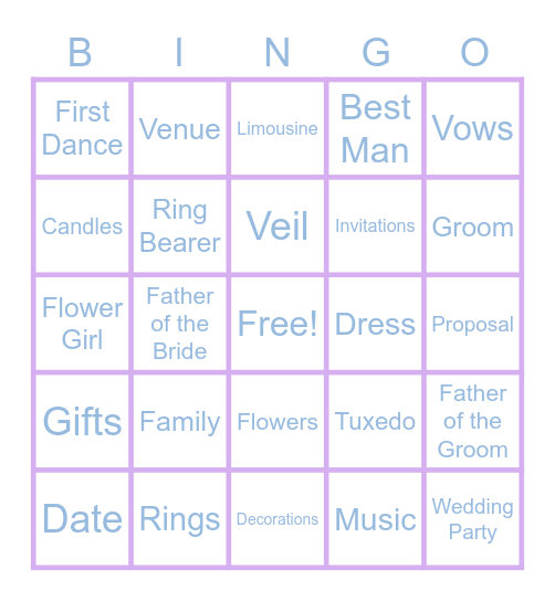 Perkins Bingo Card
