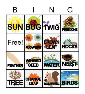 TAKE A FALL WALL BINGO Card