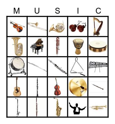 Instrument Family Bingo Card