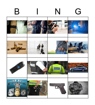 Police gear Bingo Card
