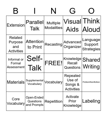 Attribute Checklist Bingo:  November 12, 2014 Bingo Card