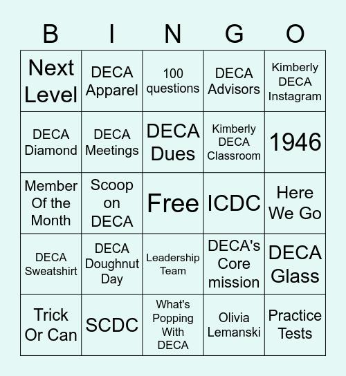 DECA BINGO Card