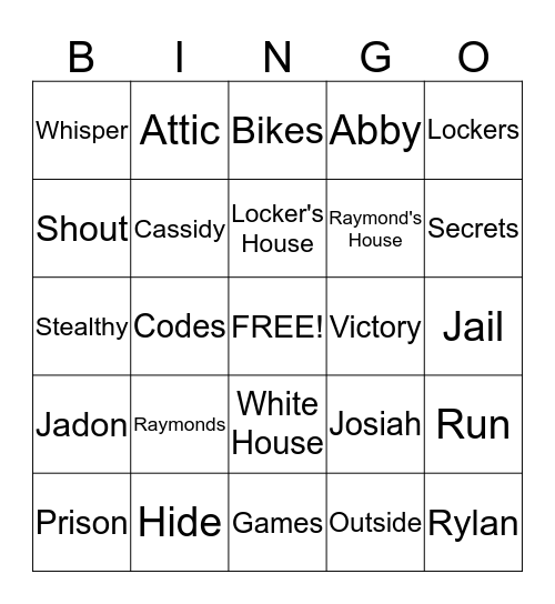 Friend Bingo Card