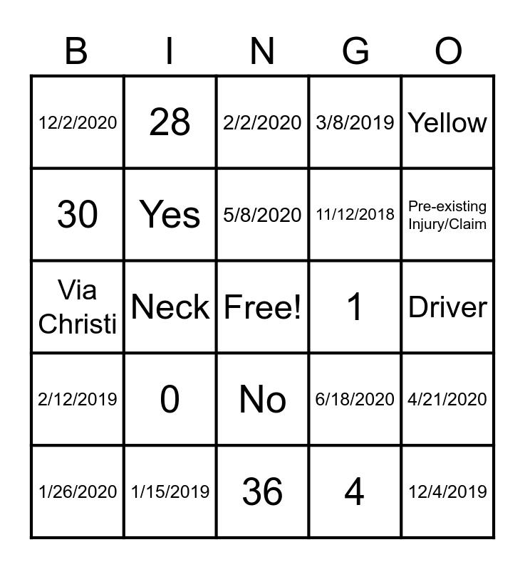 Avatar Bingo Card