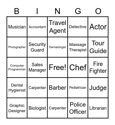 Quincy Walker Name That Job Bingo Card