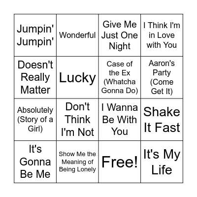 Now 5 Bingo Card