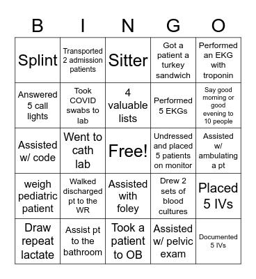 MFT Bingo Card