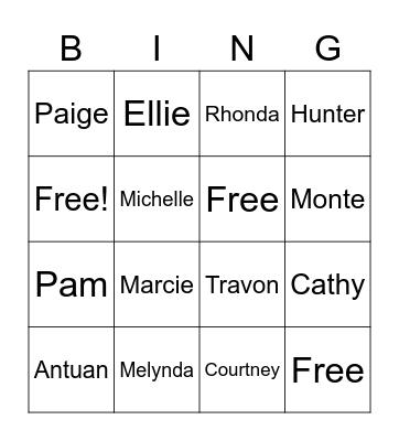 SCCU Bingo Card