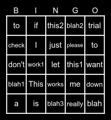 FAAST Bingo Card