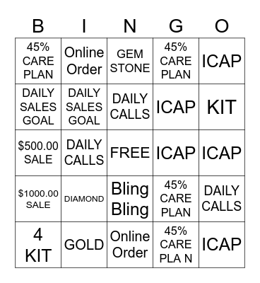 FINE JEWELRY BIGGEST SALE Bingo Card