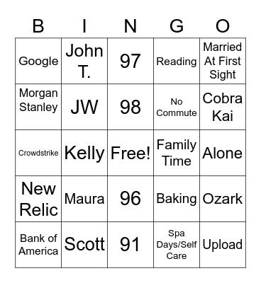 Decker Bingo Card