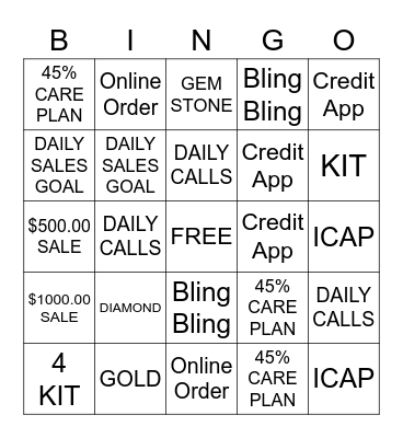 FINE JEWELRY BIGGEST SALE OF THE SEASON Bingo Card